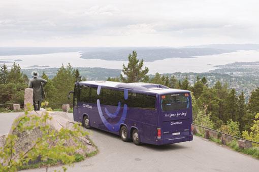 Kabotage hotar att ta död på norsk bussbransch, hävdar norska bussföretagare. Foto: Nettbuss.