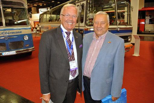 Föreningen Sveriges Bussresearrangörer hade Toni Schönfelder och Kjell Peterson på plats i Köln. Foto: Ulo Maasing.