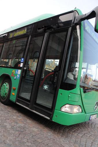 Biogasbuss i Skåne. Foto: Ulo Maasing.