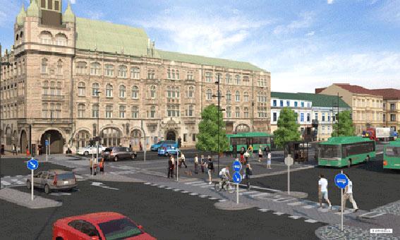 Den nya bussterminalen/resecentrum i Kristianstad kommer att stå klar till skolstarten. Bild: Ramböll.