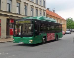 Det är Landskronas ansvar, inte Skånetrafikens, att minska bullerstörningarna från busstrafiken. Foto: Leif Jørgensen/Wikimedia Commons.
