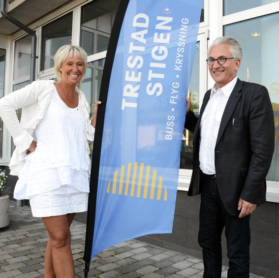 Lena Lilja har sålt sitt företag till Christer Dahlberg och hans CDP Group. Målet är bland annat att växa sig betydligt större som researrangör i Västsverige. I gruppen ingår bussföretaget Trestad Stigen. Foto: Ulo Maasing.