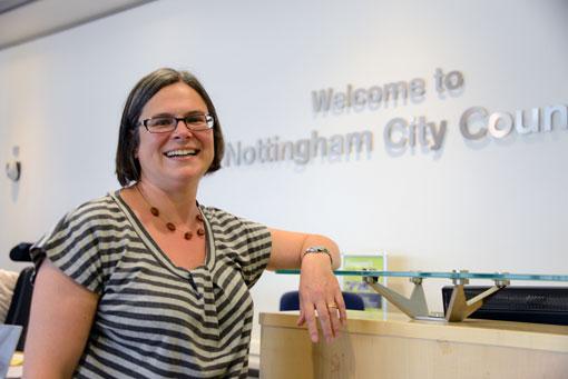Jane Urquart (labour) är politiskt ansvarig för stadsplanering och trafik i Nottingham. Foto: Ulo Maasing.