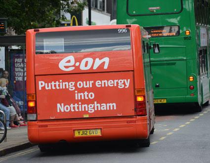 Idag levererar e-on strömmen till elbussarna i Nottingham. Foto: Ulo Maasing.