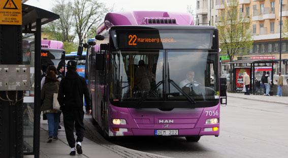 Tätare trafik i centrala Örebro ska locka fler att ta bussen. Foto: Ulo Maasing.