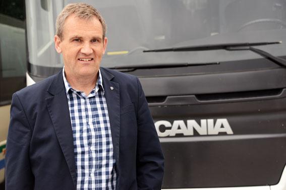 Rutger Hörndahl är sedan i våras chef för Scanias svenska bussmarknad. Foto: Ulo Maasing.