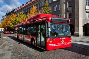 Scania OmniLink gasbuss. Foto: Dan Boman/Scania.