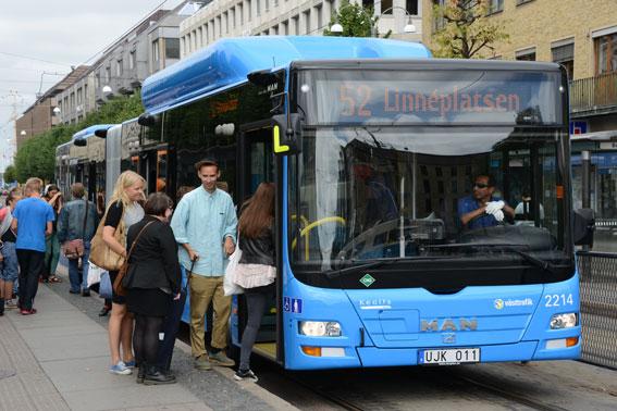 Allt fler reser med Västtrafik. Under årets första sju månader ökade resandet med busstrafiken i Västra Götaland med sju procent, jämfört med samma tid förra året. Foto: Ulo Maasing.