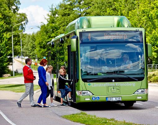 Växjö flygplats får stadsbusstrafik med linje 4. Foto: Mats Samuelsson.