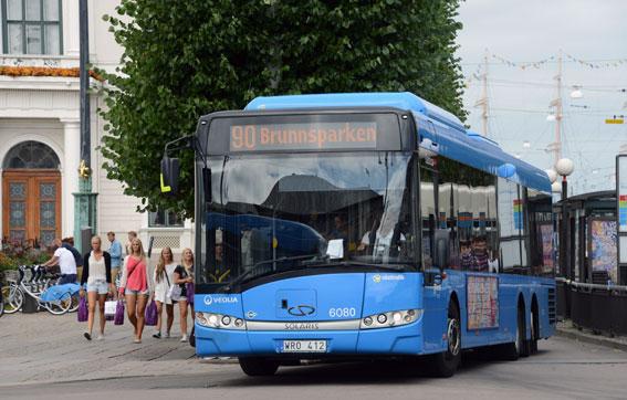 Bättre effektivitet i bussverksamheten i Göteborg anges som en av förklaringarna till det förbättrade resultatet för Veolia Transport Sverige AB. Foto: Ulo Maasing.