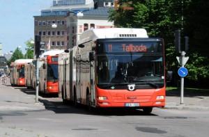 En av de städer där Veolia kör tätortstrafiken är Linköping. Foto: Ulo Maasing.