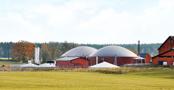 Biogasanläggning utanför Katrineholm. Bild: Svensk Energigas.