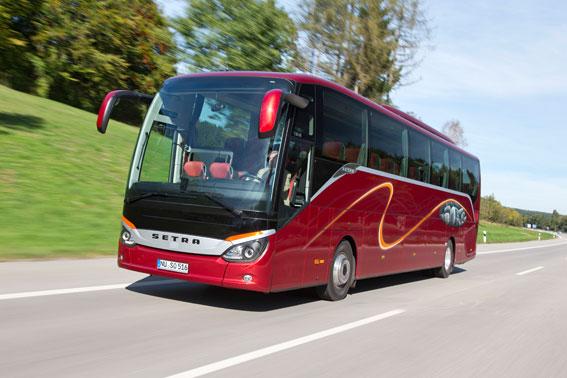Setra ComfortClass 500 har utsetts till Årets Turistbuss i Europa. Foto: Daimler Buses.
