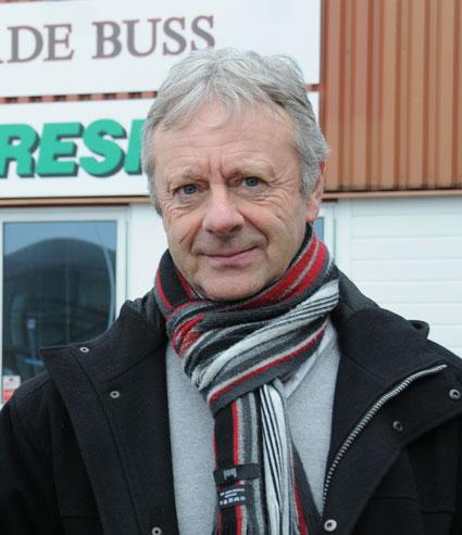 Hasse Ericsson, vd för Förenade Buss. Foto: Ulo Maasing.