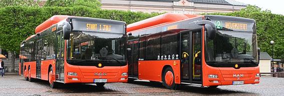 Den 1 juli byttes samtliga stadsbussar i Karlstad ut mot nya. Nu ska resenärernas värdering av de nya bussarna kartläggas vetenskapligt. Foto: Karlstadsbuss.