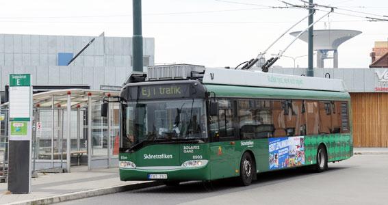 Trådbussarna i Landskrona tioårsjubilerar på fredag. Foto: Ulo MAasing.