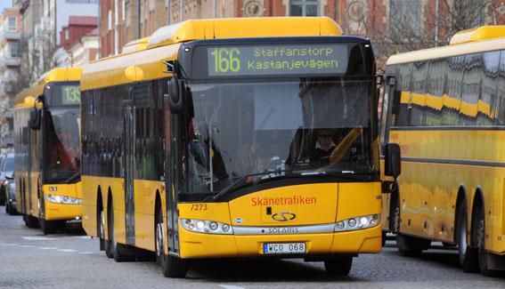 Stora förändringar i regionbusstrafiken till Lund genomförs den 1 oktober. Foto: Ulo Maasing.