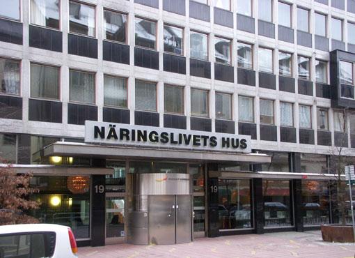 Här i Näringslivets Hus på Storgatan i Stockholm hamnar Sveriges Bussföretag. Foto: Holger Elgaard.