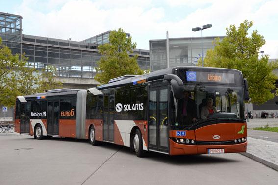 Premiär för Solaris Urbino 18 med Euro 6-motor. Foto: Ulo Maasing.