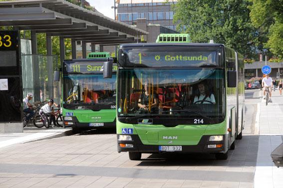 Uppsala utökar busstrafiken nästa år. Foto: Ulo Maasing.
