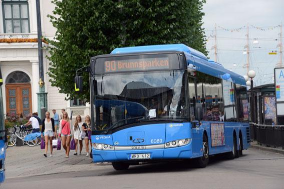 Västtrafiks busstrafik har ökat antalet resor med sex procent. Foto: Ulo Maasing.