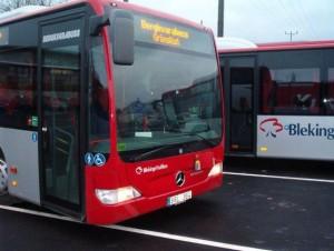 I stadstrafiken ska 21 av bussarna vara hybridbussar- Foto: Bergkvarabuss.