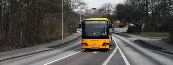 Miljöpartiet vill ha flytande bussfiler mellan Lund och Malmö. Foto: Ulo Maasing.