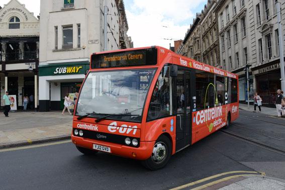 Med Storbritannien som föerbild föreslår BR en supermiljöbusspremie. Storbritanniens Green Bus Fund har lett till att landet har Europas största flotta av hybridbussar, och till att man på flera ställen som i Nottingham satsar hårt på helt eldrivna bussar. Foto: Ulo Maasing.