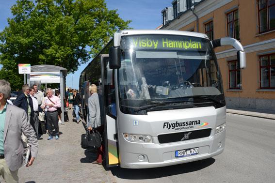 Flygbussarna fortsätter att köra kommersiellt på Gotland. Foto: Ulo Maasing.