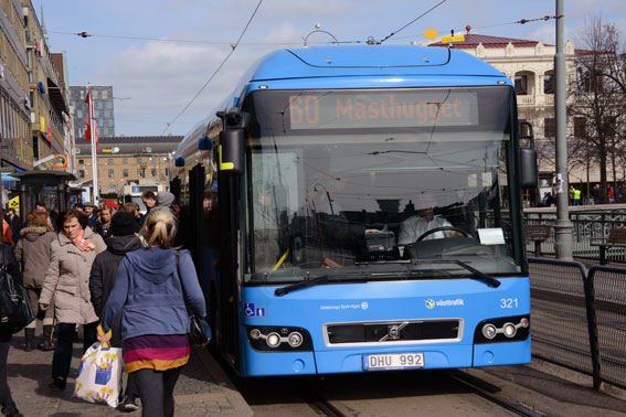 Resenärerna strömmar till Västtrafik. Foto: Ulo Maasing.