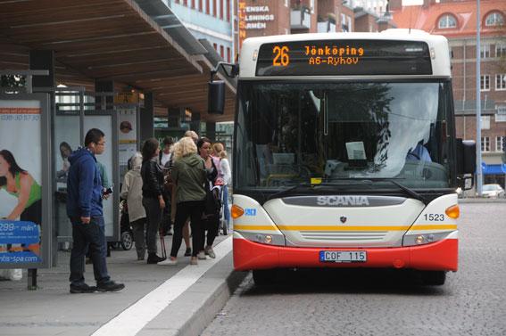 Några dagars busstrejk i Jönköping gav flera månaders minskning i resandet. Foto: Ulo Maasing.