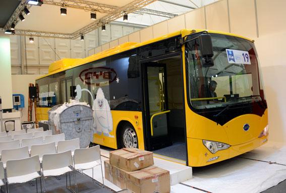 Kinesiska BYD siktar på den nordiska marknaden med en specialversion av sin batteribuss för nordiska klimat. Foto: Ulo Maasing.