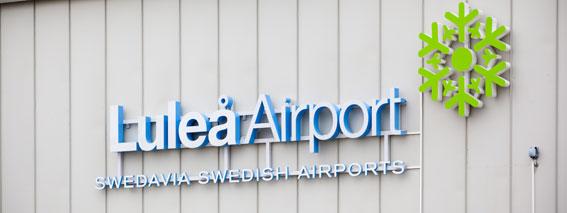 Nu är flygbussen till Luleå Airport kommunal. Foto: Swedavia.