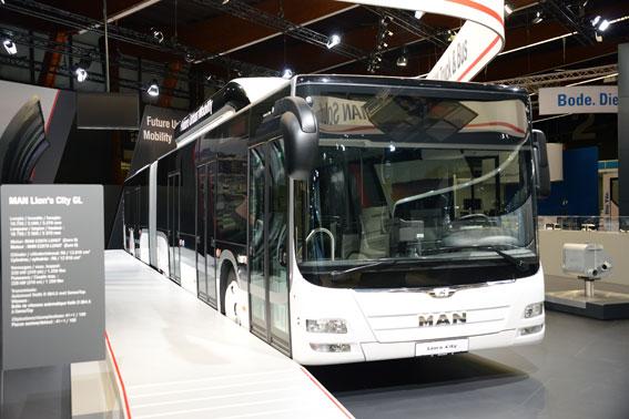 MAN:s gasdrivna BRT-buss Lion´s City GL. Foto: Ulo Maasing.