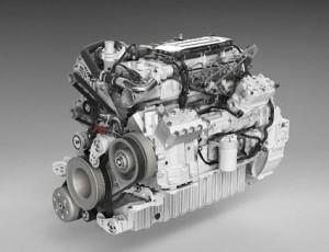 En helt ny, mindre motor lanserades också av Scania. Det är en sjulitersmotor som i praktiken är en Cumminsmotor. Foto: Scania.