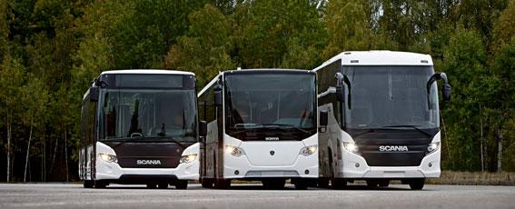Scania fick fler order på bussar än i fjol under årets första nio månader, men under det tredje kvartalet sjönk orderingången. Foto: Dan Boman.