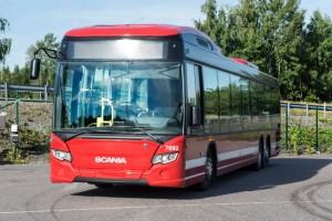De första bussarna med Scanias egenutvecklade hybriddrivlina är Scania Citywide lågentrébussar. Foto: Kjell Olausson.