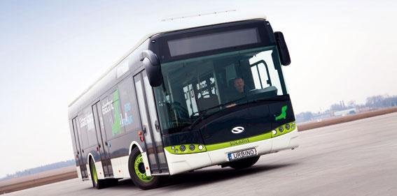 Solaris lanserar nu en fullstor, batteridriven stadsbuss. Foto: Solaris.