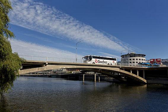 Fler expressbussar när Trafikverket utför banarbeten. Foto: Swebus.
