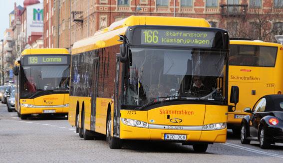 Sydsvenska Handelskammaren vill att  Skånetrafiken, Hallandstrafiken, Länstrafiken Kronoberg och Kalmar Länstrafik slås samman till Sydtrafiken. Foto: Ulo Maasing.