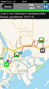 Var E bussen är en ny app som lanseras av Trivector.