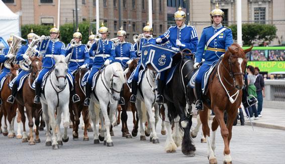 Given turistattraktion: den beridna högvakten i Stockholm. Foto: Ulo Maasing.