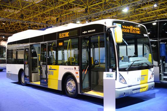 Van Hools nya elbuss A308-E. De första bussarna ska gå i Brygge, Belgien. Foto: Ulo Maasing.
