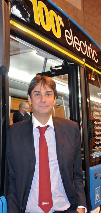 Enrico Vassallo tillträdde som vd för Optare i början av september. Foto: Ulo Maasing.