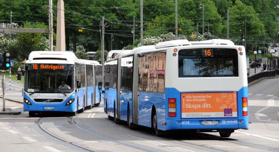 Kollektivresandet i Göteborg har ökat med sju procent sedan trängselskatten infördes. Foto: Ulo Maasing.
