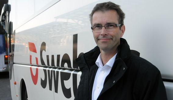 Joakim Palmkvist, vd för expressbussföretaget Swebus. Foto: Ulo Maasing.