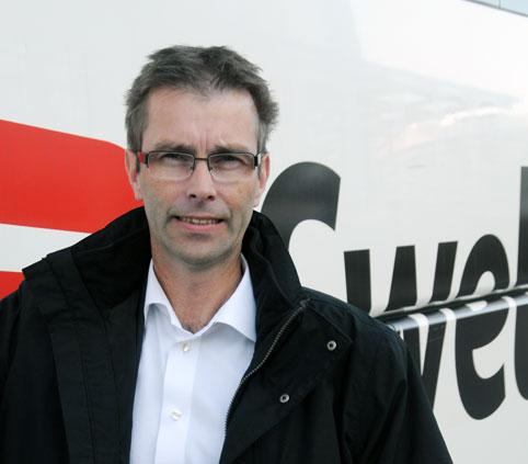 """Swebuschefen Joakim Palmkvist: """"Jag blev ledsen av reaktionen från Tågoperatörerna"""". Foto: Ulo Maasing."""