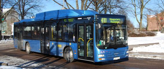 Föremålet för bråket: biogasbuss i Kalmar. Foto: marcusroos/Wikimedia Commons.