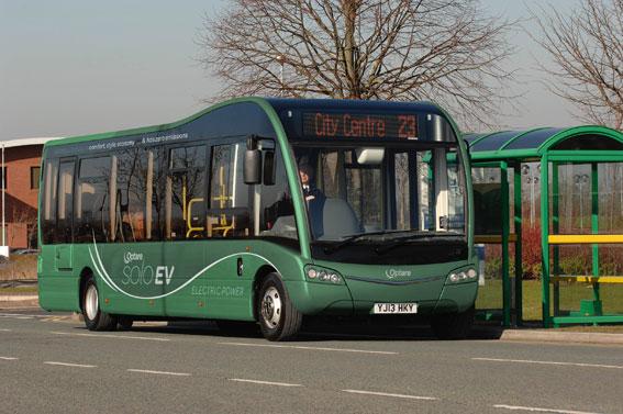 Optare Solo elbuss. Kanske ett alternativ för Ale kommun sedan det skurit sig mellan kommunen och busstillverkaren Coman. Foto: Optare.