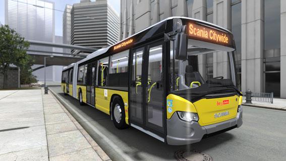 Scania har fått en order på 156 Scania Citywide ledbussar till Berlin. Bild: Scania.